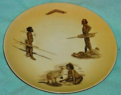 Vintage Aboriginal Australian Plate Hunter Kangaroo Boomerang BROWNIE DOWNING