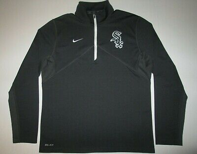 Chicago White Sox Nike Dri Fit Zip Pullover Sweatshirt Men's M Chicago White Sox Pullover