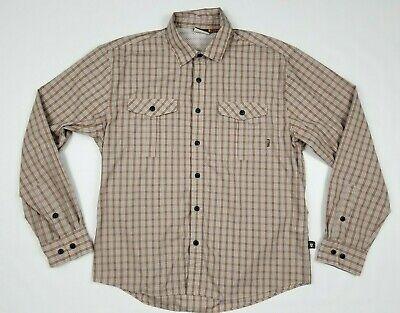 Howler Bros Men's Sz M Vented Pearl Snap Shirt Cotton Polyester Blend Plaid