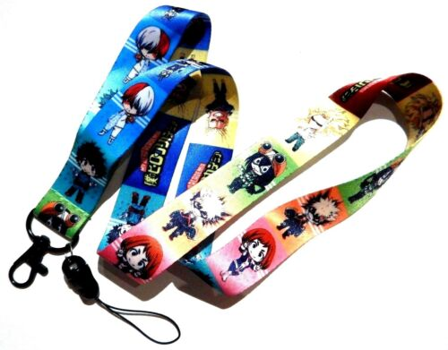 MY HERO ACADEMIA LANYARD Boku no Midoriya All Might Deku anime chibi strap 3J