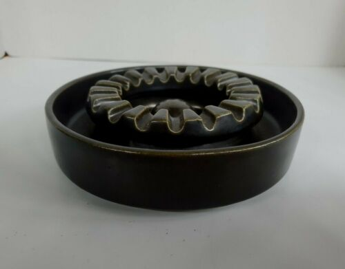 Bennington Potters Dark Brown MCM Ashtray