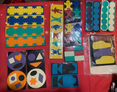 LAURI CREPE FOAM RUBBER PUZZLES TUG 2141 & SEVERAL SHAPES PEOPLE FIGURESPIECES