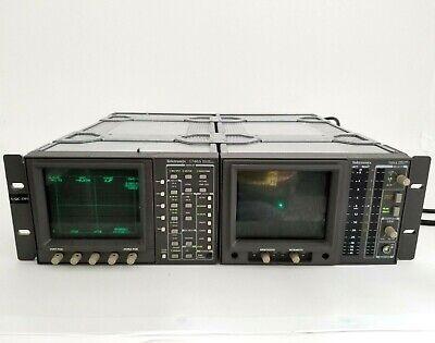 Tektronix 1740a Waveform Vector Monitor 760a Stereo Audio Monitor W Rack