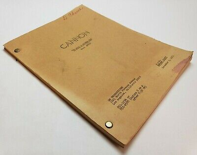 CANNON / Hal Sitowitz 1971 TV Script, William Conrad & VERA MILES episode