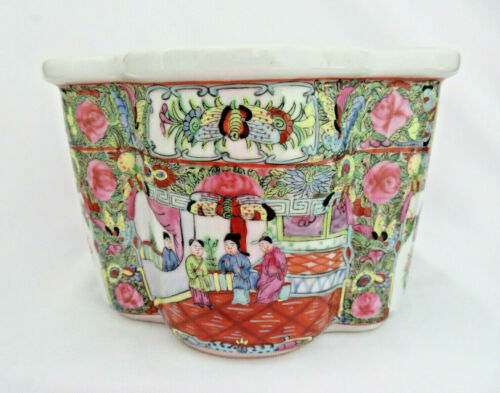 Chinese Famille Rose Medallion Cachepot Planter