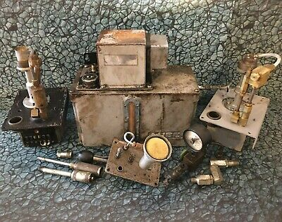 Lube Corp Lube-matic Automatic Lubricator Lot 100v Pump Ami-200s Mill Lathe Tool