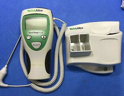 Welch Allyn Suretemp Plus 690 Thermometer W Long Oral Probe Wall Holder P8kp