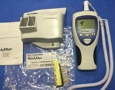 Welch Allyn Suretemp Plus 692 Thermometer W New Oral Probe Wall Holder  Vkp