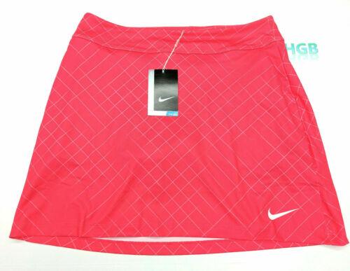 NEW! NIKE [S] Womens Dry Knit Print Golf Skort-Bright Coral 856853-653