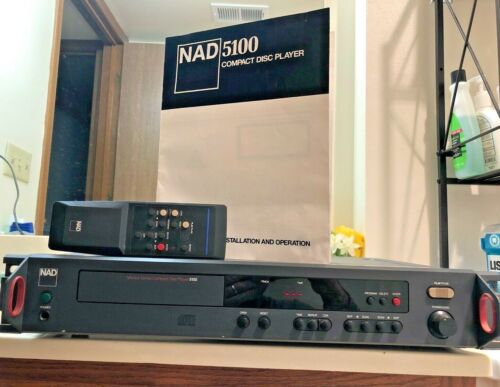 NAD Electronics 5100 Monitor Series CD Compact Disc Player w/ Remote - READ!