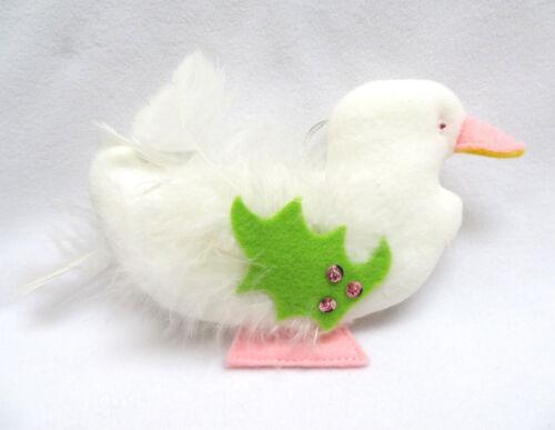 Vintage Velvet & Feathers Duck Christmas Ornament
