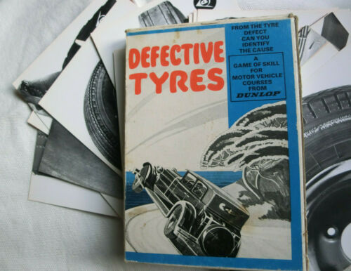 VINTAGE DUNLOP CARD GAME 'DEFECTIVE TYRES' EDUCATIONAL PROMOTIONAL