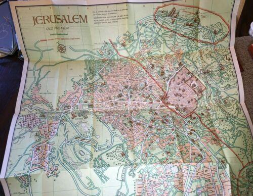 1955 Steimatsky Pictorial Map of Jerusalem in English