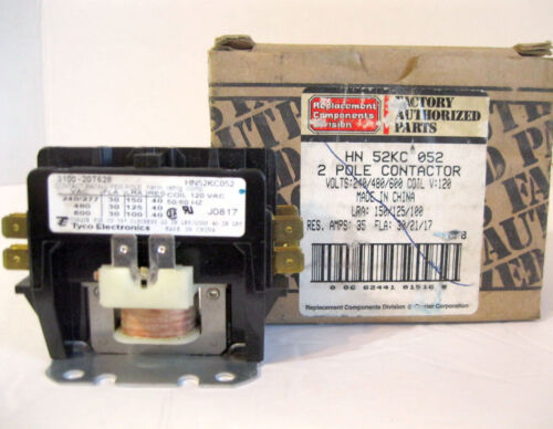 New Tyco Electronics HN52KC052 2 Pole Contactor 30 Amp Carrier Corp 3100-20T628