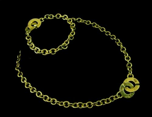 Tiffany & Co 1837 Sterling Rolo Link Necklace Bracelet Circle Toggle Clasp