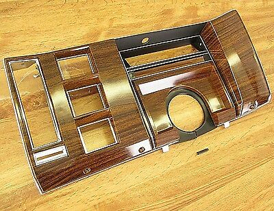 RARE 1977-1978 CADILLAC DEVILLE & FLEETWOOD DASH FACE APPLIQUE WALNUT GRAIN