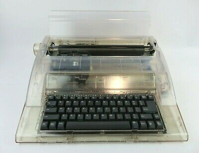 Swintec 2410cc Clear Cabinet Electronic Typewriter
