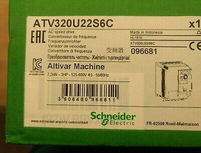 Atv320u22s6c Variable Speed Drive Atv320 3 Hp. 2.2 Kw. 525...600v 3 Phases.