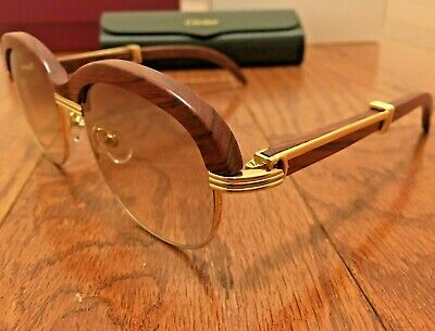 Cartier 1116679 Men's Gold & Brown Gradient (Gold Cartier Glasses)