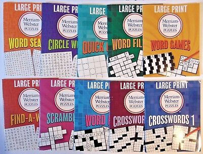 Large Print Merrian Webster Puzzles Crossword Puzzles   10 Pack   A