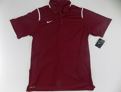 Men's Nike game day polo shirt dry fit XL XLarge burgundy Mens Game Day Polo
