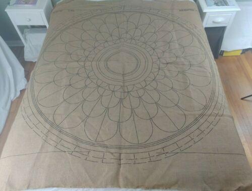 Floral Rug Canvas HUGE 6