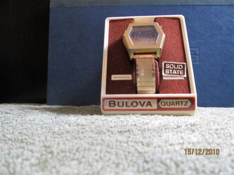 Vintage Rare Six Sided Bulova Computron Wrist Watch Needs Attention