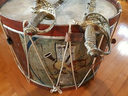 CIVIL WAR LARGE BASS DRUM NOT SWORD  MADE BY GEORGE KILBOURN NUMBERED CA 1861
