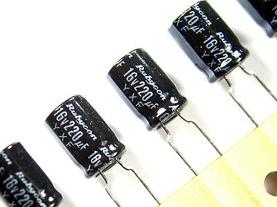 12pcs Rubycon Yxf 16v 220uf 105c Capacitors
