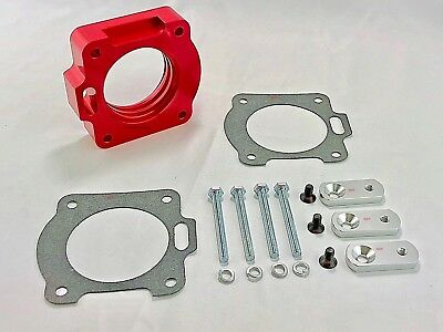 Billet Aluminum Throttle Body - RED Billet Aluminum Throttle Body Spacer Fit 99-01 Ford Mustang 3.8L V6