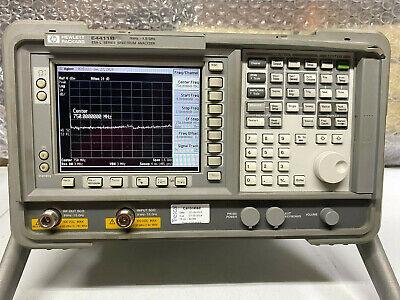 Agilent Hp E4411b 9khz To 1.5ghz Spectrum Analyzer With Tracking Generator
