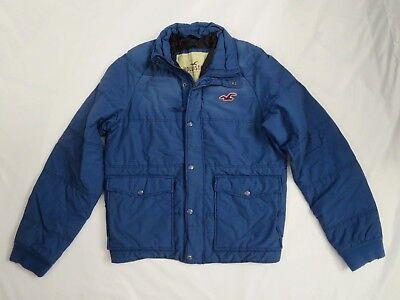 Nwt Hollister Vintage Angustiado Abrigo Chaqueta Talla XL Azul Real