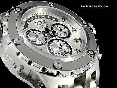NEW Invicta 52MM Reserve Specialty Subaqua SILVER Dial Gray Bezel Bracelet Watch