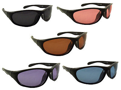 Colored Lens Sunglasses Polarized Red Pink Blue Purple Lens Mens Womens Fishing