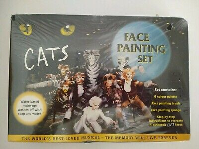 et Water Based Washable Make-up New Halloween (Cat Faces Make-up Halloween)