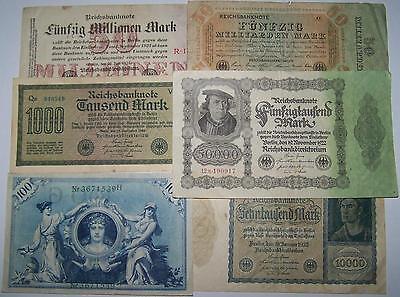 BANKNOTE DEUTSCHES REICH - DIVERSE JAHRE / WERTE / MOTIVE - GELDSCHEIN