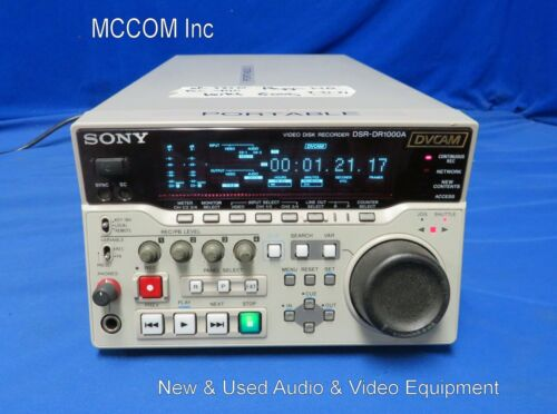 Sony DSR-DR1000A Digital Disk DVCAM Recorder w/ 1310 record Hrs