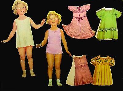 Shirley Temple Costume (1935 SAALFIELD #1715- 2 -9 1/2