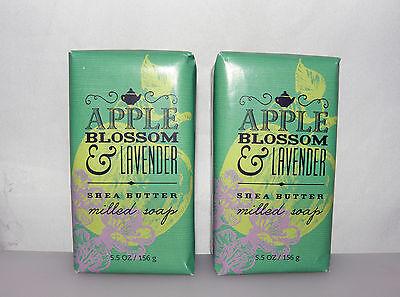 Bath & Body Works Apple Blossom & Lavender Shea Butter Milled Soap 5.5 oz. X2 - Lavender Butter Soap