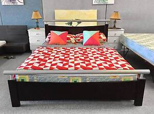 DELIVER TODAY LUXURY MODERN SOLID WOODEN QUEEN BED & MATTRESS Belmont Belmont Area Preview