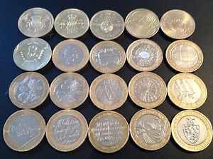 Bimetallic-Commemorative-Two-Pound-Coins-Rare-British-2-coin-1986-2013