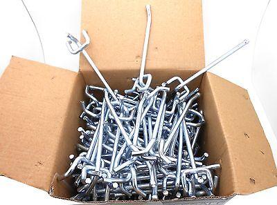 50pc 6 X 14 Peg Board Hooks Shelf Hanger Kit Garage Storage Hanging Set