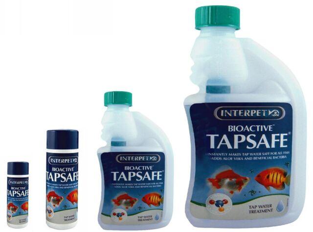 Interpet Bioactive Tapsafe 30ml 125ml 250ml 500ml Tropical Treatment Water Safe