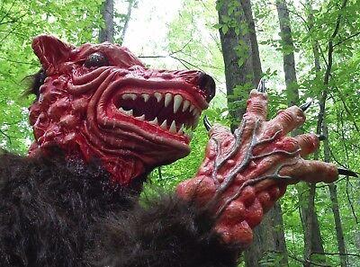 Mutant Bear Wolf Dog Beast Monster Mask Prophecy 1979  Halloween Prop Creature  - Halloween Bear Dog
