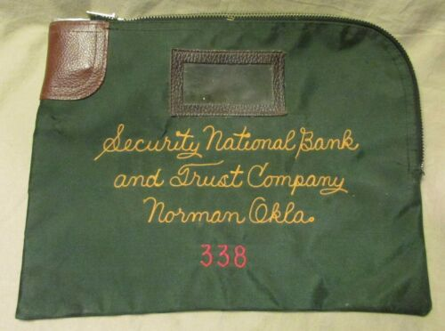 VINTAGE SECURITY NAT. BANK & TRUST CO., NORMAN, OK A. RIFKIN MONEY SACK, NO KEY