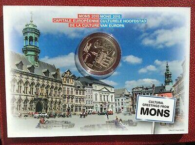 Belgique -Albert II - Monnaie FDC de 5 Euros  2015 - Mons Capitale Europ.Culture