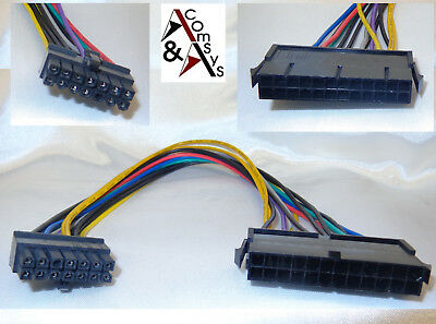 24 Pin auf 14 Pin Lenovo Medion ATX Netzteil Mainboard Strom Kabel Adapter 30cm