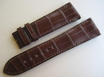 Original Girard Perregaux Uhr Alligator Leder Armband 24 mm Braun Neu 24/19
