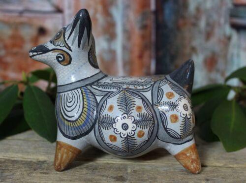 Sm Colima Dog Deer Handmade & Painted Tonalá Pottery Handmade Mexican Folk Art
