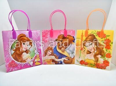 12 Belle Beauty and the Beast Party Favor Bags Goodie Loot Candy Gifts Recuerdos